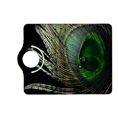 Feather Peacock Drops Green Kindle Fire Hd (2013) Flip 360 Case by Simbadda