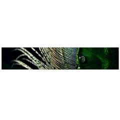 Feather Peacock Drops Green Flano Scarf (large) by Simbadda