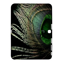 Feather Peacock Drops Green Samsung Galaxy Tab 4 (10 1 ) Hardshell Case  by Simbadda