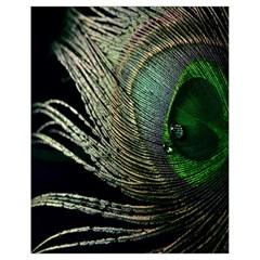 Feather Peacock Drops Green Drawstring Bag (small) by Simbadda