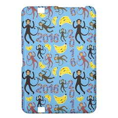 Cute Monkeys Seamless Pattern Kindle Fire Hd 8 9  by Simbadda