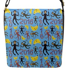Cute Monkeys Seamless Pattern Flap Messenger Bag (s) by Simbadda