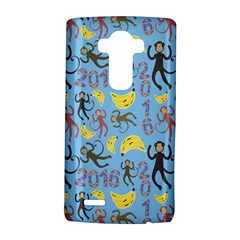 Cute Monkeys Seamless Pattern Lg G4 Hardshell Case by Simbadda