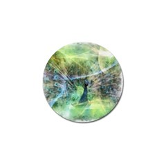 Digitally Painted Abstract Style Watercolour Painting Of A Peacock Golf Ball Marker (10 Pack) by Simbadda