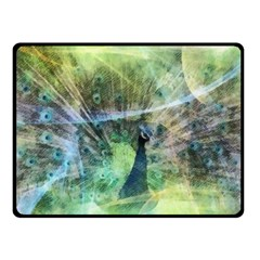 Digitally Painted Abstract Style Watercolour Painting Of A Peacock Fleece Blanket (small) by Simbadda
