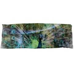 Digitally Painted Abstract Style Watercolour Painting Of A Peacock Body Pillow Case Dakimakura (two Sides) by Simbadda