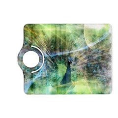 Digitally Painted Abstract Style Watercolour Painting Of A Peacock Kindle Fire Hd (2013) Flip 360 Case by Simbadda