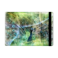 Digitally Painted Abstract Style Watercolour Painting Of A Peacock Ipad Mini 2 Flip Cases by Simbadda