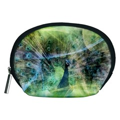 Digitally Painted Abstract Style Watercolour Painting Of A Peacock Accessory Pouches (medium)  by Simbadda