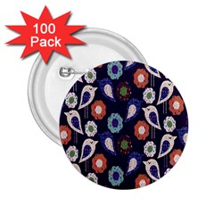 Cute Birds Pattern 2 25  Buttons (100 Pack)  by Simbadda