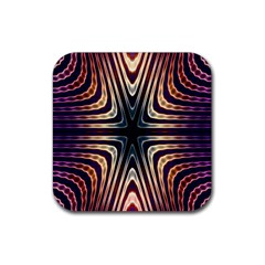 Colorful Seamless Vibrant Pattern Rubber Coaster (square)  by Simbadda