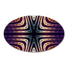 Colorful Seamless Vibrant Pattern Oval Magnet by Simbadda