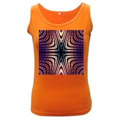 Colorful Seamless Vibrant Pattern Women s Dark Tank Top by Simbadda