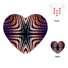 Colorful Seamless Vibrant Pattern Playing Cards (heart)  by Simbadda