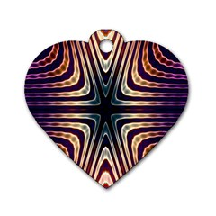 Colorful Seamless Vibrant Pattern Dog Tag Heart (one Side) by Simbadda