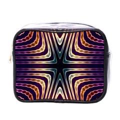 Colorful Seamless Vibrant Pattern Mini Toiletries Bags by Simbadda