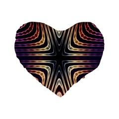 Colorful Seamless Vibrant Pattern Standard 16  Premium Flano Heart Shape Cushions by Simbadda