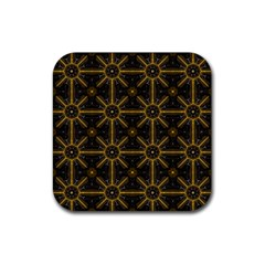 Seamless Symmetry Pattern Rubber Square Coaster (4 Pack)  by Simbadda