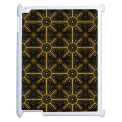 Seamless Symmetry Pattern Apple Ipad 2 Case (white) by Simbadda