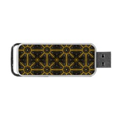 Seamless Symmetry Pattern Portable Usb Flash (one Side) by Simbadda