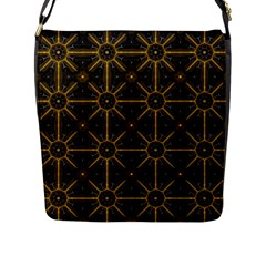 Seamless Symmetry Pattern Flap Messenger Bag (l)  by Simbadda