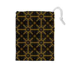 Seamless Symmetry Pattern Drawstring Pouches (large)  by Simbadda