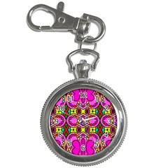 Love Hearths Colourful Abstract Background Design Key Chain Watches by Simbadda