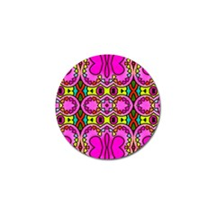 Love Hearths Colourful Abstract Background Design Golf Ball Marker by Simbadda