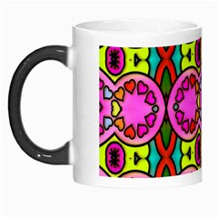 Love Hearths Colourful Abstract Background Design Morph Mugs by Simbadda