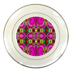 Love Hearths Colourful Abstract Background Design Porcelain Plates by Simbadda