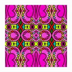 Love Hearths Colourful Abstract Background Design Medium Glasses Cloth (2 Side) by Simbadda