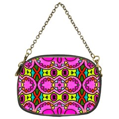 Love Hearths Colourful Abstract Background Design Chain Purses (one Side)  by Simbadda