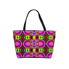 Love Hearths Colourful Abstract Background Design Shoulder Handbags by Simbadda