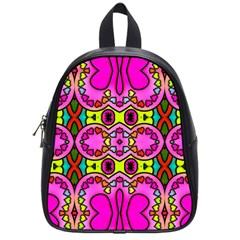 Love Hearths Colourful Abstract Background Design School Bags (small)  by Simbadda