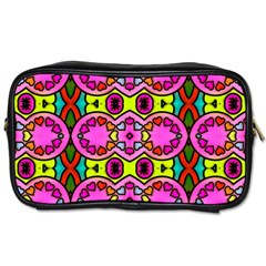 Love Hearths Colourful Abstract Background Design Toiletries Bags by Simbadda