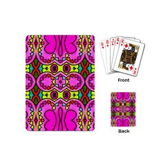 Love Hearths Colourful Abstract Background Design Playing Cards (mini)  by Simbadda