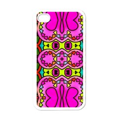 Love Hearths Colourful Abstract Background Design Apple Iphone 4 Case (white)