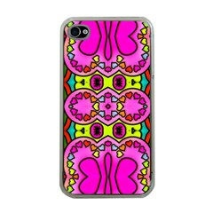 Love Hearths Colourful Abstract Background Design Apple Iphone 4 Case (clear) by Simbadda