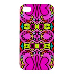 Love Hearths Colourful Abstract Background Design Apple Iphone 4/4s Premium Hardshell Case by Simbadda