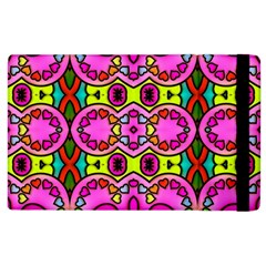 Love Hearths Colourful Abstract Background Design Apple Ipad 2 Flip Case by Simbadda