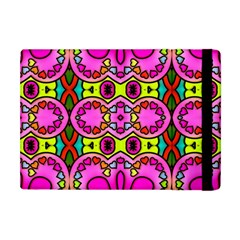 Love Hearths Colourful Abstract Background Design Apple Ipad Mini Flip Case by Simbadda