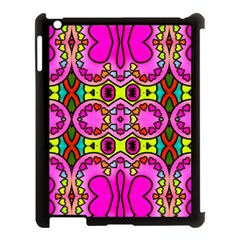 Love Hearths Colourful Abstract Background Design Apple Ipad 3/4 Case (black) by Simbadda