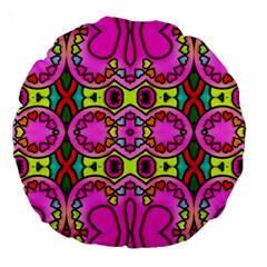 Love Hearths Colourful Abstract Background Design Large 18  Premium Round Cushions by Simbadda