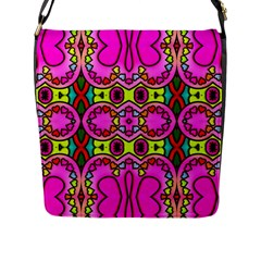 Love Hearths Colourful Abstract Background Design Flap Messenger Bag (l)  by Simbadda