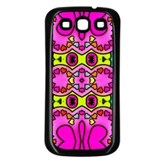 Love Hearths Colourful Abstract Background Design Samsung Galaxy S3 Back Case (black) by Simbadda