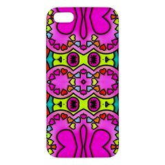 Love Hearths Colourful Abstract Background Design Iphone 5s/ Se Premium Hardshell Case by Simbadda