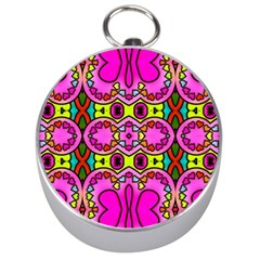 Love Hearths Colourful Abstract Background Design Silver Compasses by Simbadda