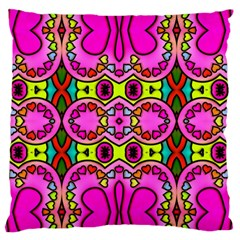Love Hearths Colourful Abstract Background Design Standard Flano Cushion Case (two Sides) by Simbadda