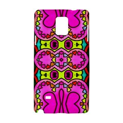 Love Hearths Colourful Abstract Background Design Samsung Galaxy Note 4 Hardshell Case by Simbadda