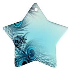 Feathery Background Star Ornament (two Sides) by Simbadda